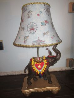 Hand made lamp from scratch for circus room