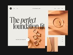 Foundation Cosmetics Header designed by Andrea Jelić for Seahawk. Connect with them on Dribbble; Web Design, Header Design, Graphic Design, Minimal Website Design, Modern Website, It Cosmetics Foundation, Photography Marketing, Ui Web, Modern Typography