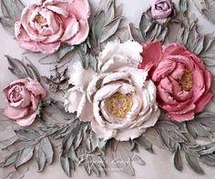 Little Treasures: Insta love - Evgenia Ermilova: Master at Sculpture Painting Plaster Crafts, Plaster Art, Clay Crafts, Arts And Crafts, Sculpture Painting, Wall Sculptures, Clay Flowers, Flower Making, Clay Art