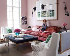 House & Post: Christine d'Ornano- SISLEY  beautiful pink walls