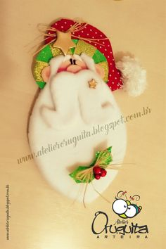 Atelier Oruguita Arteira Winter Christmas, Xmas, Christmas Ornaments, Felt Crafts, Applique, Santa, Wreaths, Seasons, Halloween
