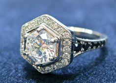 Platinum and black diamonds scream out to me.