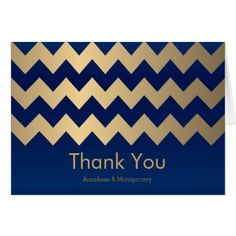Navy Blue and Gold Chevron Pattern Card - patterns pattern special unique design gift idea diy