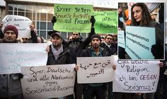 Migrants protest in German cities after 'revenge' attacks