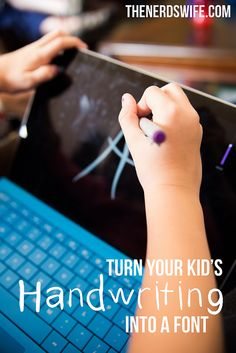 How to Turn Your Kid's Handwriting Into a Font -- an easy tutorial that you can use to have your kids write thank you letters, create holiday cards, and more!