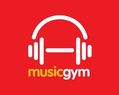 Amazingly Clever Gym and Fitness Logos Like how the fitness equipment is incorporated into the logo.Like how the fitness equipment is incorporated into the logo. Fitness Logo, Gym Fitness, Fitness Design, Sport Fitness, Music Logo, Music App, Logos, Logo Branding, Type Logo