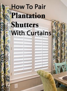 How To Pair Plantation Shutters With Curtains-Wasatch Shutter Design Comment associer des volets de plantation avec des rideaux-Wasatch Shutter Design Curtains With Plantation Shutters, Window Shutters Inside, Cottage Shutters, Cafe Shutters, Interior Window Shutters, Interior Windows, Bedroom Shutters, Inside Shutters For Windows, Houses