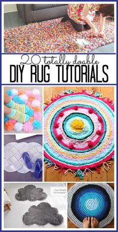 20 DIY Rug Tutorials - Sugar Bee Crafts