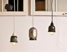 Bright & Energetic: Hanging Pendants in Multiples | Apartment Therapy