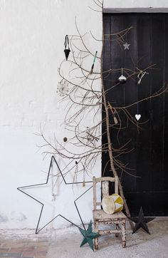 Rustic Christmas for BoligLiv, large star in iron from tinekhome.dk / 2015 / styling by Nordisk rum