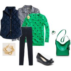 A fashion look from March 2013 featuring J.Crew sweaters, J.Crew blouses and J.Crew vests. Browse and shop related looks.