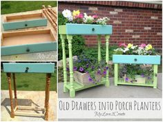 How to Upcycle Old Drawers into Porch Planters | iCreativeIdeas.com Follow Us on Facebook --> https://www.facebook.com/icreativeideas