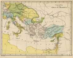 General map to illustrate the Crusades (1905 school map)