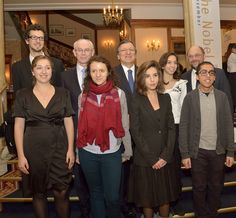 Young Europeans who won contests to participate in the EU Nobel peace prize ceremony in Oslo.