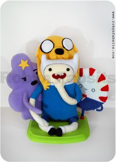 Oh my glob!  Adventure Time Plushes {inspiration}