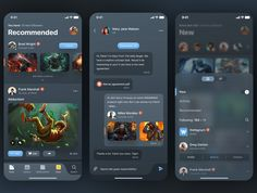 Unique and modern new UI Kit. Infinite designed for iPhone X in Figma. Absolutely vector shapes for retina. Android App Design, Ios App Design, Game Ui Design, Mobile App Design, Interface Design, App Design Inspiration, Design Ideas, Mobile App Ui, Interactive Design