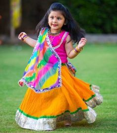 navratri chaniya choli designs for kids