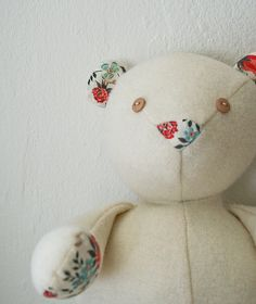 Molly's Sketchbook: Wool and Liberty Teddy Bear