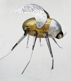 Steampunk brass bug
