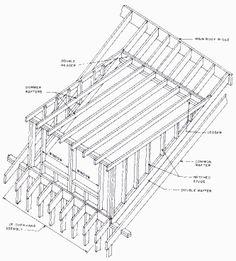 House rafter design cottage pinterest dormer windows for Dormer window construction drawings