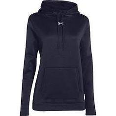 Hoodies and Sweatshirts 59325: Under Armour Womens Ua Storm Armour Fleece Hoodie Medium Midnight Navy -> BUY IT NOW ONLY: $59.45 on eBay!
