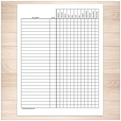 Bill Payment Tracker Log - Full Year - Printable