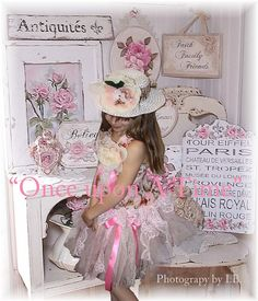 Shabby chic vintage lace tutu flower girl by cookiesandcostumes, $145.00