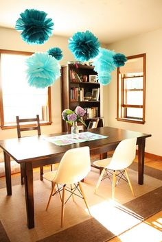 DIY tissue paper flowers - maybe for the classroom?
