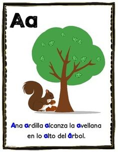 These alliteration posters are a great way for your students to have fun twisting their tongues while they practice phonemic awareness. There's one for each letter of the Spanish alphabet.