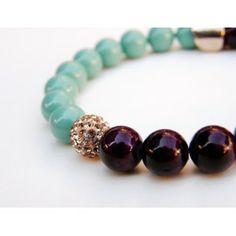 Purple Jade & Shamballa TooLittle Bracelet #semiprecious #bracelet