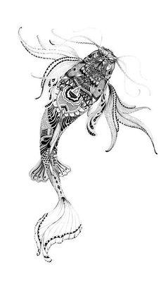 110 Best Japanese Koi Fish Tattoo Designs and . 110 Best Japanese Koi Fish Tattoo Designs and Drawings Tattoo Tribal, Tatoo Henna, Tatoo Art, Geometric Tattoos, Tattoo Ink, Arm Tattoo, Sleeve Tattoos, Fish Drawings, Tattoo Drawings