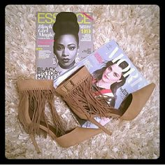 New Tan Fringe Heels Beautiful tan fringe heels that can be worn with jeans or anything you want to wear with them. 5 inch heels. (New) Shoes Heels
