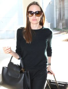 Angelina Jolie at LAX, August 2013.