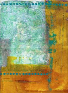 collage journeys: Visual Journal with Gel Plate with Jane Davies. Love the teal green and golden yellows