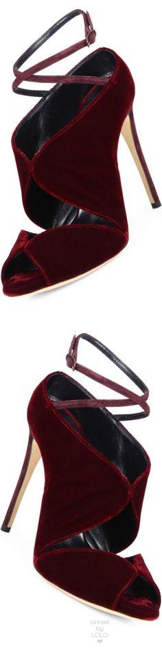 Casadei Cutout Velvet Ankle-Wrap Sandals