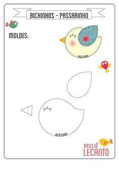 Molde passarinho