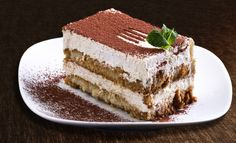 "Word of the day: Tiramisu. In Italian, Tiramisu means ""pick me up"". The actual dish is a quite recent invention as it was invented as late as Italian Desserts, Köstliche Desserts, Italian Recipes, Delicious Desserts, Italian Tiramisu, Italian Meals, Quick Recipes, Quick Easy Meals, Cake Recipes"