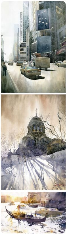 I have been using my spare time recently to steal away to work on a few little watercolor paintings. When I stumbled upon the work of Polish artist and architect, Grzegorz Wróbel, I was completely…