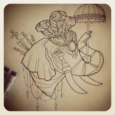 New tattoo elephant design illustrations ideas Circus Elephant Tattoos, Circus Tattoo, Elephant Tattoo Design, Elephant Design, Circus Elephants, Tattoo Elephant, Rose Sketch, Bird Sketch, Arrow Tattoos