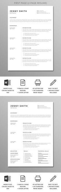 Word Resume Resume templates Pinterest Resume cover letters - resume or word