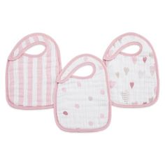 Product Image for aden + anais® 3-Pack Heartbreaker Classic Muslin Snap Bib in Pink 1 out of 3
