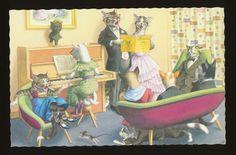 Mainzer Dressed Cats 4892 Piano AND Music Recital | eBay
