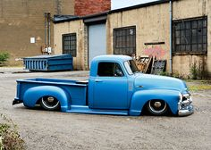 Slammed 1955 #Chevy Pickup
