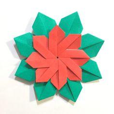 幼児とクリスマス折り紙 簡単で華やかなポインセチアの作り方 Poinsettia, Flowers, Cards, Cooking, Origami Diagrams, Kitchen, Maps, Royal Icing Flowers, Playing Cards