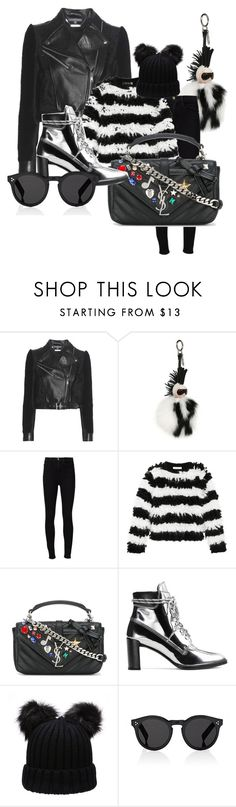 """Winter IV"" by beatricechan on Polyvore featuring Alexander McQueen, Fendi, Frame Denim, MaxMara, Yves Saint Laurent, Stuart Weitzman and Illesteva"