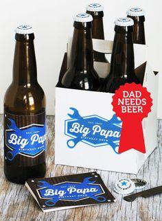 Custom Beer Bottle Labels Caps home brew labels by GarageMonk.com