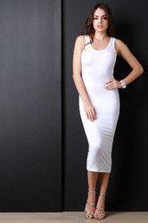 Casual Jersey Sleeveless Maxi Dress