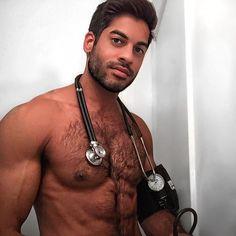 Hairy gay medic exam
