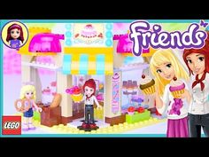 LEGO Friends Downtown Bakery Review Build Silly Play - Kids Toys - YouTube