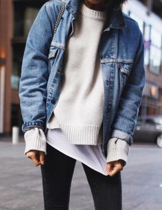 knits + denim